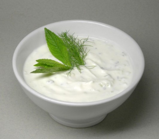 Yoghurt with Cucumber