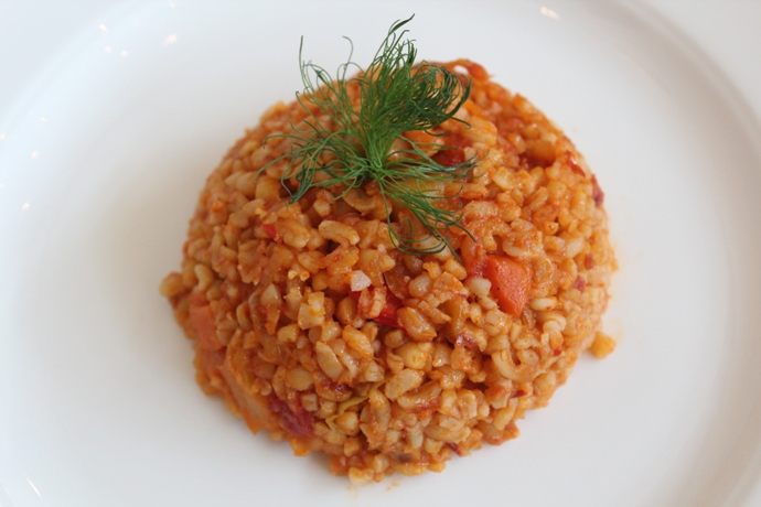 Bulgur Rİce Pilaf with Tomatoes