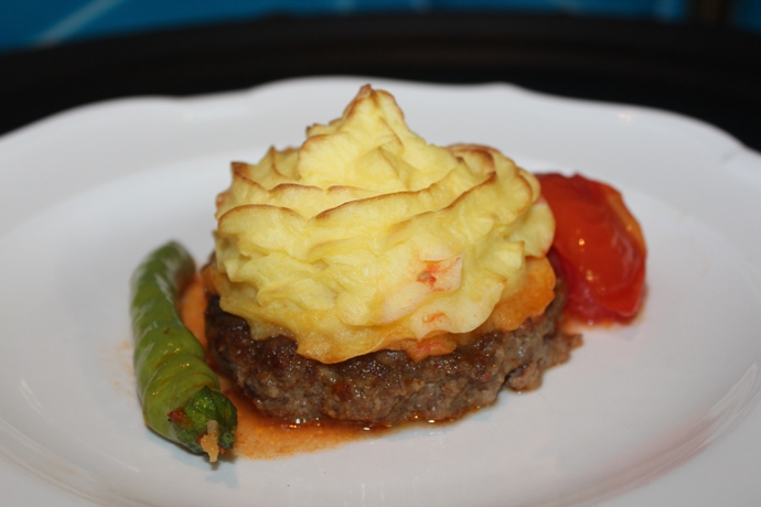 Ground Beef Patties Filled with Mashed Potatoes