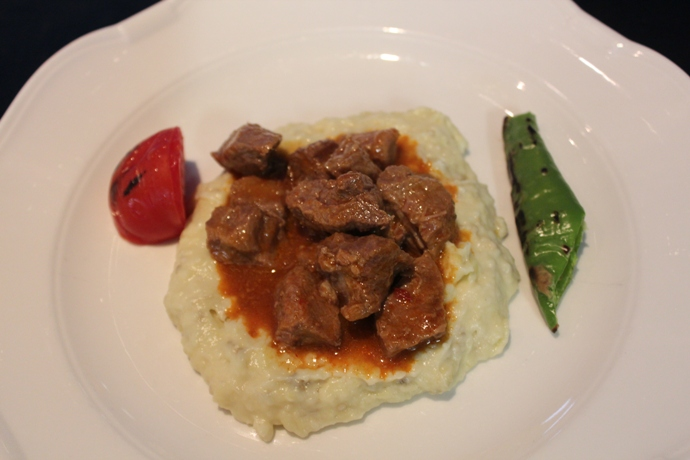 Beef Stew with Pureed Eggplant
