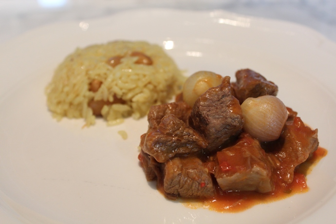 Beef Stew with Pearl Onions