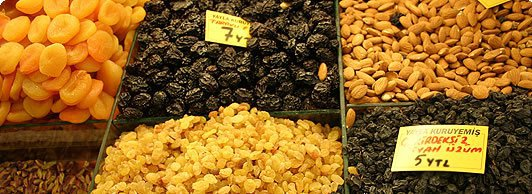 Dried Fruits and Nuts in Turkish Food Culture